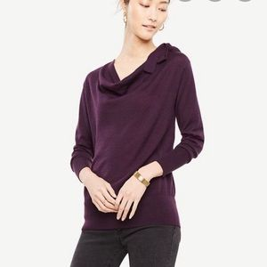 Ann Taylor shoulder bow cowl sweater